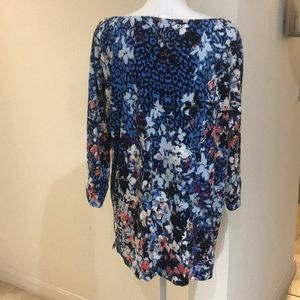Rafaella Tops - 5/$25 Purple/Blue Floral Rafaella Blouse Size 2X